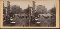 Park Row from Tryon Row, the City Hall Park on the right, showing the Times Building, and a distant view of St. Paul's Church, from Robert N. Dennis collection of stereoscopic views.png