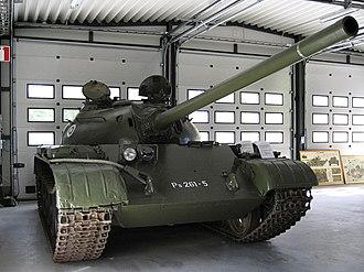 T-54/T-55 operators and variants - T-54 at the Parola Tank Museum in Parola, Finland.