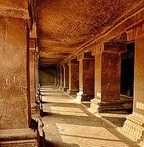 Pataleshwar Caves Internal Temple Corridors 2.jpg