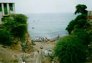 Pedra Badejo - View to the harbour.