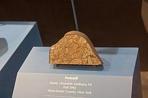 Peekskill meteorite - Portion of the meteorite in the National Museum of Natural History