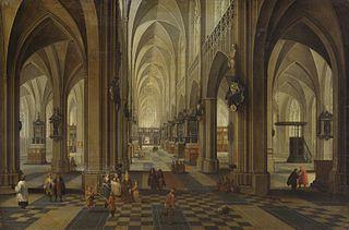 Innenansicht der Kathedrale Nôtre Dame zu Antwerpen