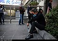 People gathering outside the Jam Hospital following the death of Mohammad-Reza Shajarian 2020-10-08 30.jpg