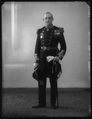HMS Philomel (1890) - Captain P. Hall-Thompson, who commanded HMS Philomel for most of the First World War