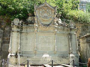 François Christophe de Kellermann - Tomb of Kellermann in Père Lachaise Cemetery