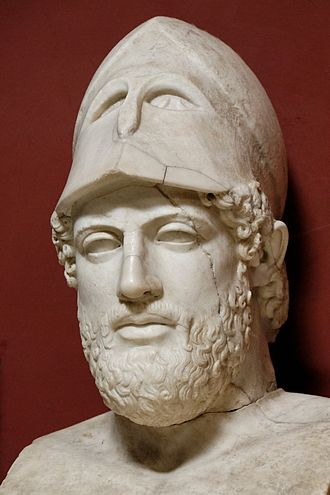 Athenian democracy - Bust of Pericles, marble Roman copy after a Greek original from c. 430 BC