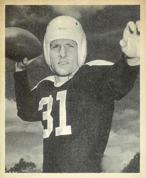 Perry Moss - Moss on a 1948 Bowman football card