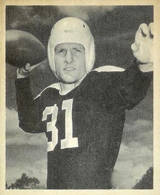 Perry Moss - Moss on a 1948 Bowman football card