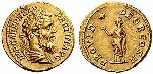 Pertinax - Roman aureus struck under the rule of Pertinax