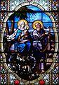 Pfarrkirche Lourdes Glasfenster Flucht nach Ägypten.jpg