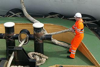 The Mission to Seafarers - Seafarer on board a ship.