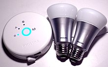 Philips Hue hub and 2 bulbs.jpg