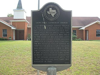 Phillipsburg, Texas - Image: Phillipsburg TX Church Marker