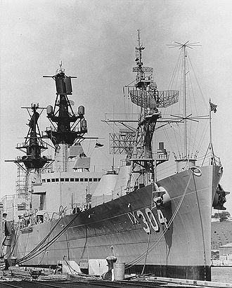 Operation Sailor Hat - USS Atlanta at the Hunters' Point Naval Shipyard, San Francisco, California, circa October 1964, while completing conversion to a weapons effects test ship.