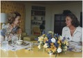 Photograph of Betty Ford and Mrs. Nelson A. (Happy) Rockefeller Talking in the Solarium - NARA - 186763.tif