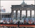 Photograph of President Reagan giving a speech at the Berlin Wall, Brandenburg Gate, Federal Republic of Germany - NARA - 198585.tif