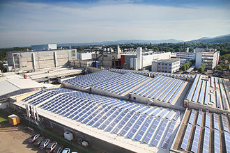 Micronas - Photovoltaic system on the roofs of Micronas GmbH in Freiburg