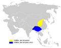 Phylloscopus claudiae distribution map.png
