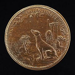 Hound Looking at a Constellation of the Goat [reverse]