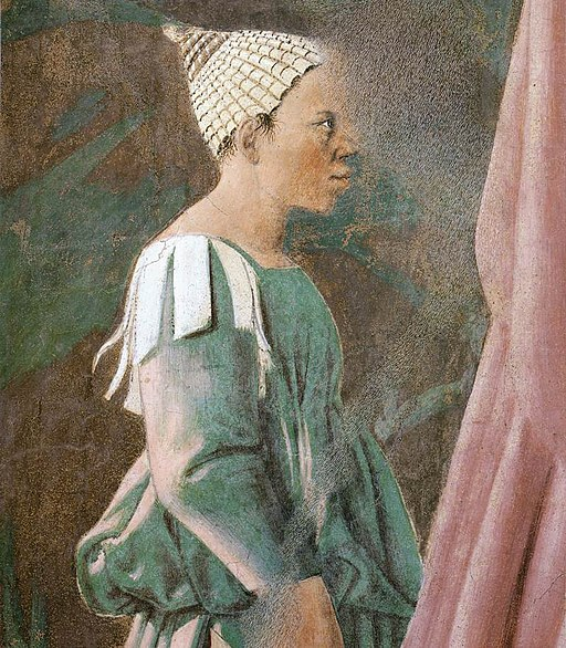 Piero della Francesca - 2a. Procession of the Queen of Sheba (detail) - WGA17496
