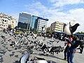 Pigeons on Taksim Square, Istanbul, Turkey (9603549187).jpg