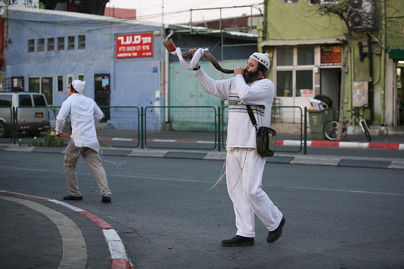 Religious men in the street