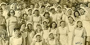 Healthcare in Israel - Hadassah nursing students, 1948