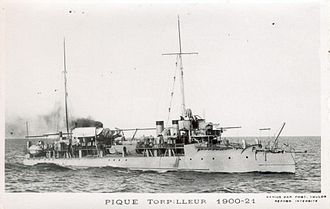 French destroyer Framée - Image: Pique destroyer français