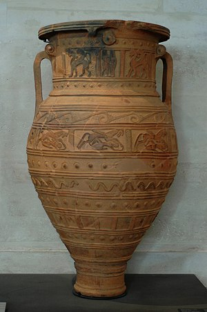Pandora's box - A pithos from Crete, c. 675 BC. Louvre