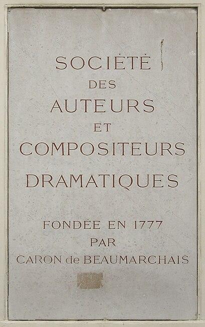 Fichier:Plaque SACD, 11 bis rue Ballu, Paris 9.jpg
