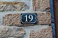 Plaque numéro 19 passage Écoles St Cyr Menthon 1.jpg
