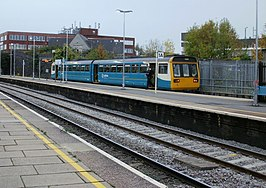 Platform 1A , Bridgend railway station - geograph.org.uk - 1556021.jpg