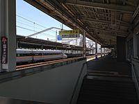 Platform of Fukuyama Station (Sanyo Shinkansen, west).JPG