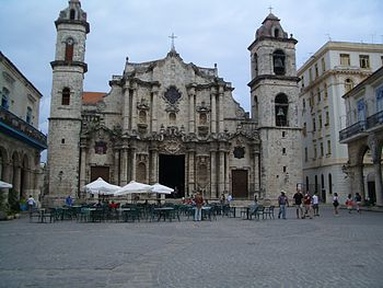 English: Square of the Cathedral of San Cristo...