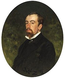 В. Д. Поленов. Портрет работы И. Репина (1877)