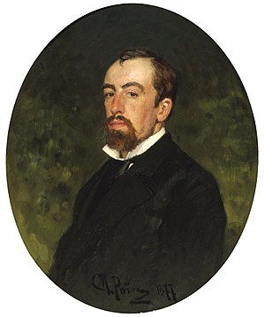 Vasily Polenov - Portrait by Ilya Repin