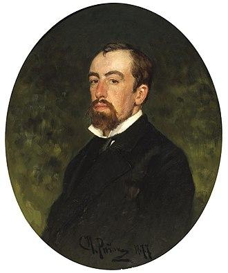 Vasily Polenov - Portrait by Ilya Repin