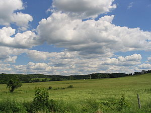 Pompey, New York - The rolling hills of Pompey are located just southeast of Syracuse.