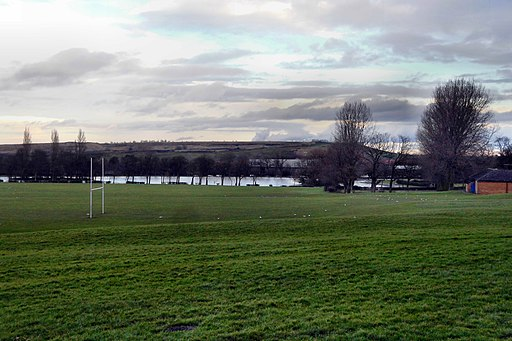 Pontefract park sports fields and lake (geograph 5669991)