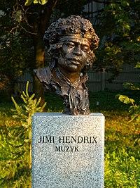 Buste de Jimi Hendrix à Kielce.