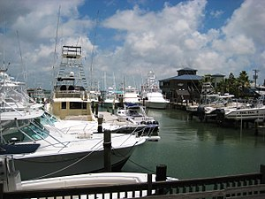 Port Aransas, Texas - Boat dock at Port Aransas.