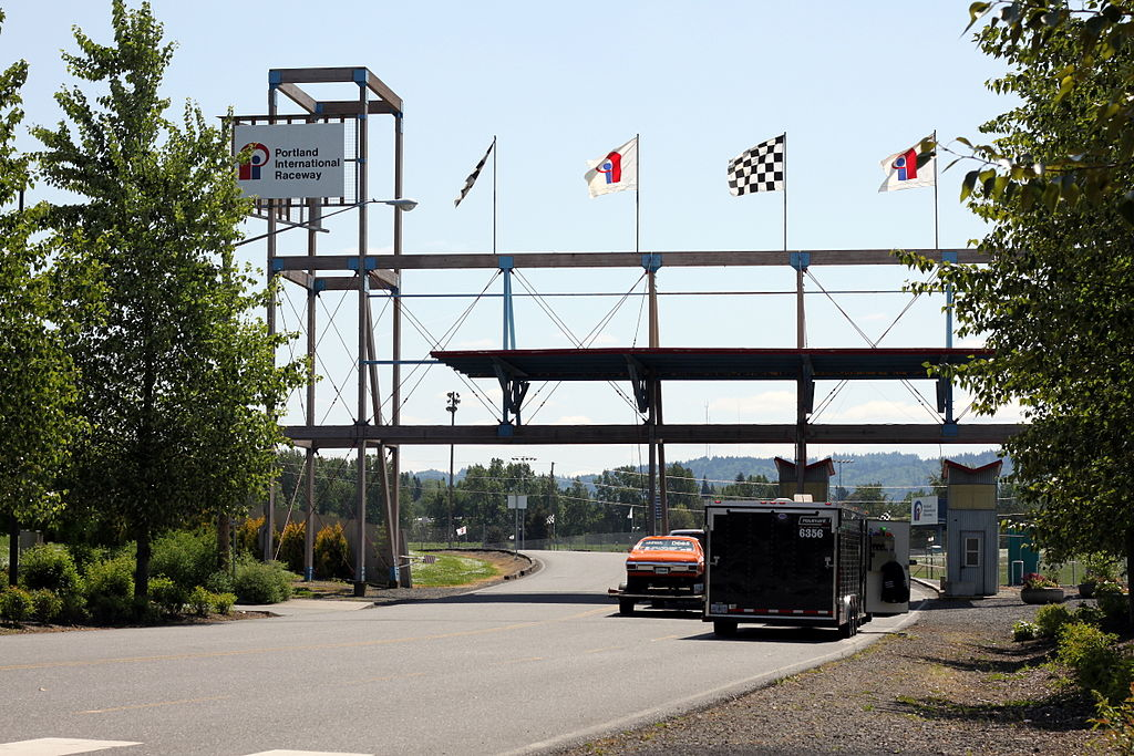 Portland International Raceway entrance