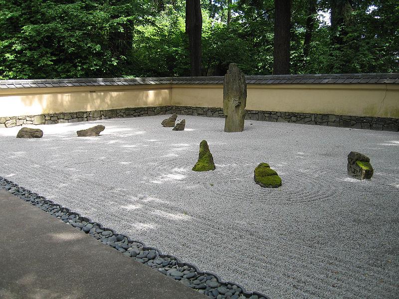File:Portland Japanese gardens zen garden.jpg