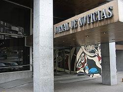 Entrada do edifício do JN, no Porto.