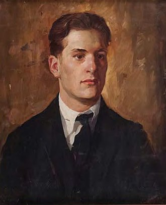 Wilbur G. Adam - Portrait of a Young Man (1922), Adam's painting of fellow artist Paul Chidlaw, was auctioned in 2014.