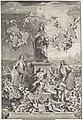 Portret van Duits keizer Ferdinand III met een allegorie op de oorlog en de vrede, RP-P-OB-67.965.jpg