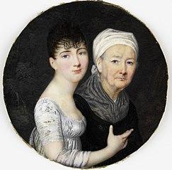 Portret van een oude en een jonge vrouw