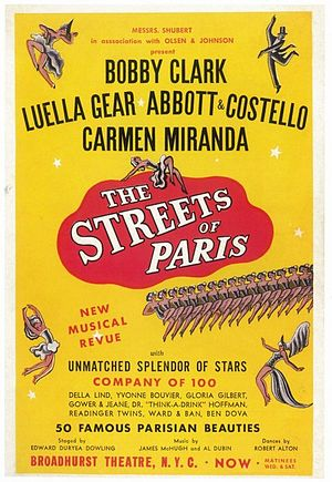 The Streets of Paris - The Streets of Paris poster.
