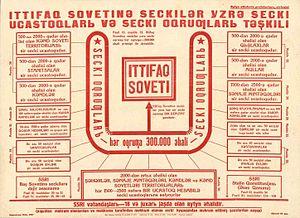 Elections in Azerbaijan - Poster of Azerbaijan 1937