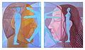 Poupetova Miluse - Geneze celistvosti, olej na platne, 2x 50x45 cm, r. 2011.jpg